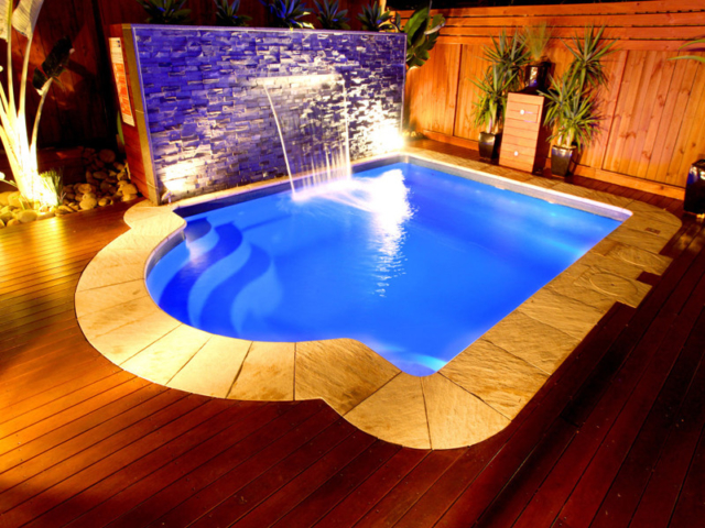 Local Pools and Spas Sydney Fibreglass Pool Builder NSW Compass Pools Courtyard 2