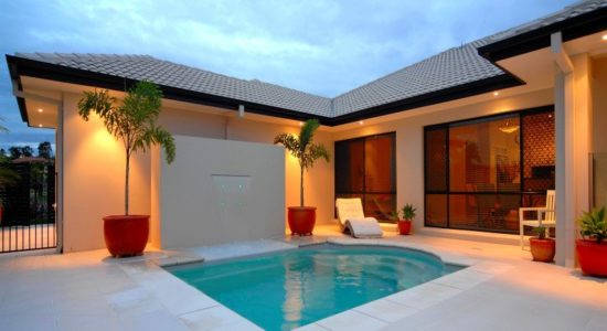 Local Pools and Spas Sydney Courtyard Fibreglass Pool