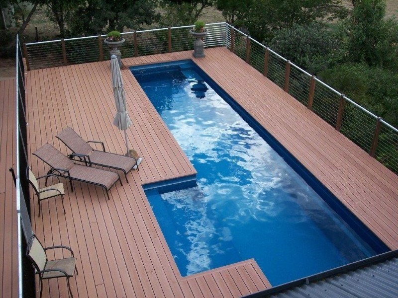 Above ground fibreglass pools with maxi rib technology Above ground pool installation ideas