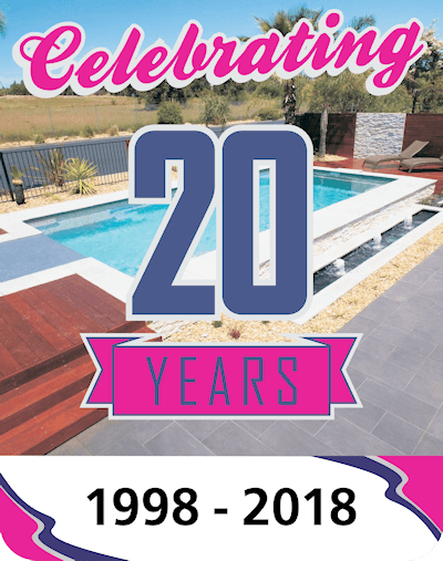 Local Pools and Spas Celebrating 20 Years